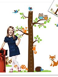 oiseau de hibou renard écureuil zoo sticker mural pour chambre d'enfants zooyoo221 décoratif PVC amovible décalque de mur