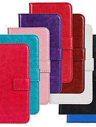 tanie -Kılıf Na Samsung Galaxy Samsung Galaxy Etui Portfel / Etui na karty / Z podpórką Pełne etui Solidne kolory Skóra PU na S5 Mini
