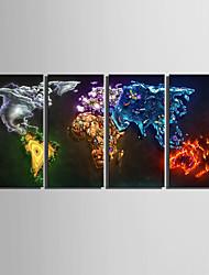 Недорогие -е-Home® растягивается на холсте цветовую карту декоративной живописи набор из 4