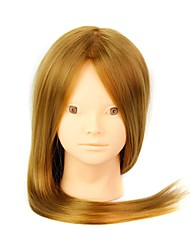 cheap -Heat Resistant Synthetic Hair Salon Female Mannequin Head No Make-up