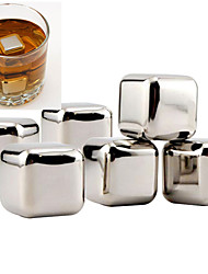 cheap -10 pcs/lot Stainless Steel Whiskey Stones Rock Ice Cubes Soapstone Drink Freezer