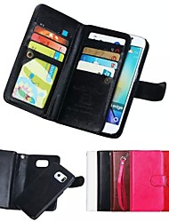 cheap -Case For Samsung Galaxy Samsung Galaxy Case Card Holder Wallet Magnetic Full Body Cases Solid Color Soft Genuine Leather for S8 Plus S8