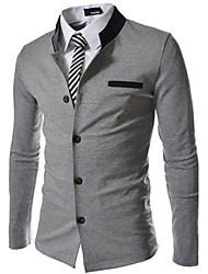 Costumes & Blazers ( Coton mélangé ) Informel Rond à Manches longues