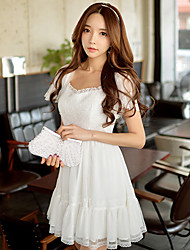 cheap -Pink Doll®Women's Casual/Party/Lace Sleevless Dress