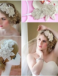 cheap -Women Flower Handmade Pearl/Crystal Tiaras/Headbands/Forehead Jewelry With Crystal/Pearl Wedding/Party Headpiece