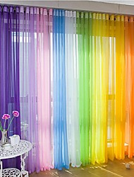 Rod Pocket Grommet Top Tab Top Double Pleat One Panel Curtain Modern Material Sheer Curtains Shades Home Decoration