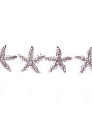 cheap -Women's Alloy Headpiece-Wedding Special Occasion Casual Hair Pin 4 Pieces