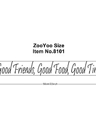 Good Friends. Good Food . Good Times Wall Decals Zooyoo8101 Removable Vinyl Wall Stickers Home Decoration