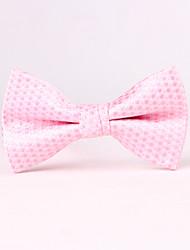 economico -festa degli uomini / matrimonio serale il papillon da uomo rosa a punta d'onda
