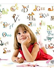 adesivi murali alfabeto decorazione nursery per i bambini camera zooyoo877 stickers murali PVC estraibile decorativi