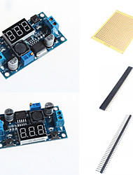 cheap -LM2596 DC-DC Adjustable Step-Down Module With A Voltage Meter Display and Accessories
