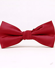 cheap -Men's Party/Evening Wedding Formal Deep Red Solid Color Bow Tie