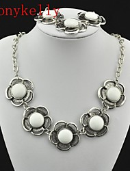 cheap -Women's Jewelry Set Necklace / Bracelets & Bangles - White For Wedding / Party / Daily