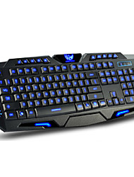 cheap -Wired Multicolor Backlit 114 pcs Gaming Keyboard Programmable / Backlit USB Port powered