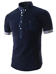 economico -MEN - T-shirt - Informale A camicia - Maniche corte Misto cotone