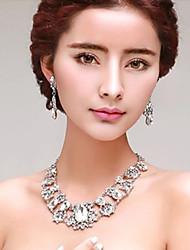 Conjunto de jóias Mulheres Aniversário / Casamento / Noivado / Presente / Festa / Diário / Ocasião Especial Conjuntos de JoalhariaStrass