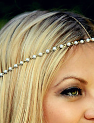 cheap -Women's Elegant Imitation Pearl Alloy Headband Flower