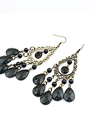 Women's Drop Earrings European Style Fashion Bohemian Style Water Droplets Alloy Earrings