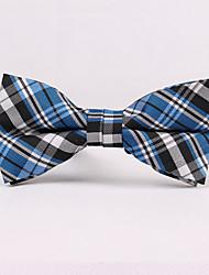 Casamento feminino de festa / noite casamento formal blue plaid poliéster gravata