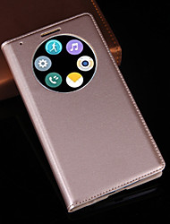 cheap -For LG Case with Stand / with Windows Case Full Body Case Solid Color Hard PU Leather LG