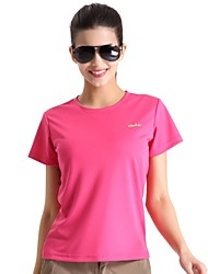 cheap -Women's Hiking T-shirt Outdoor Quick Dry Breathable Limits Bacteria Lightweight Materials T-shirt Top Camping / Hiking Fishing Climbing