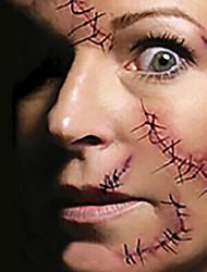 1 Tatuaggi adesivi Altro Non Toxic Halloween Fascia lombare WaterproofBambino Da donna Da uomo Adulto Teen Tattoo FlashTatuaggi