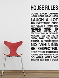 cheap -Harmony House Rules In This House Quote Wall Decal Zooyoo8010 Decorative DIY Parede Removable Vinyl Wall Sticker