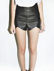 preiswerte -Damen Retro Sexy Hohe Hüfthöhe Mikro-elastisch Jeans Hose,PU Ganzjährig