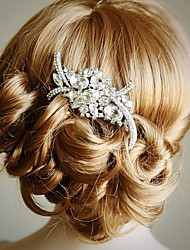 cheap -Material Alloy Hair Combs Headpiece with Crystal Wedding Party Special Occasion Headpiece