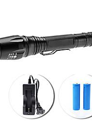 economico -Set torcia LED UltraFire E3 focus regolabile 5-modalità Cree XM-L T6 (1600LM, 2x18650)