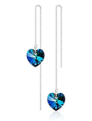 cheap -Synthetic Sapphire Drop Earrings - Sterling Silver Blue For Wedding / Party / Daily / Casual