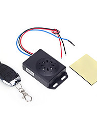 cheap -Motorcycle Anti-theft Security Alarm System with Remote Control DC 12V Black