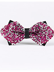cheap -Men's Party/Evening Wedding Shiny Silver Pink Diamond Bow Tie