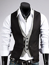 cheap -Men's Business Formal Slim Vest-Solid Colored / Sleeveless / Work
