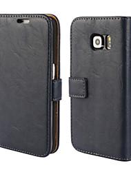 Недорогие -Кора зерна подлинной кожаный чехол для всего тела с подставкой и корпусом для Samsung Galaxy s6 края (ассорти цветов)