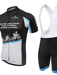 Cycling Jersey with Bib Shorts Women's Short Sleeves Bike Bib Shorts Jersey Shorts Wearable Breathable 3D Pad Back Pocket 100% Polyester