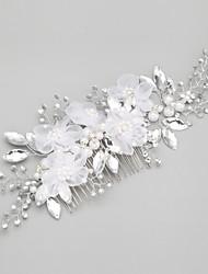 Femme Jeune bouquetière Alliage Imitation de perle Casque-Mariage Occasion spéciale Peigne 1 Pièce