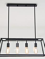 Недорогие -4-Light Люстры и лампы Потолочный светильник - Мини, 110-120Вольт / 220-240Вольт, Теплый белый / Белый, Лампочки включены / 10-15㎡