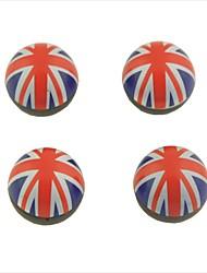 economico -Modello piatto di forma rotonda copertura valvola della gomma tappo stelo ruota 4 pz cric sindacato