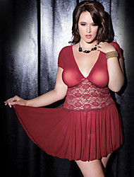 cheap -Women's Plus Size Babydoll & Slips Nightwear Solid