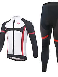 baratos -Calça com Camisa para Ciclismo Homens Manga Comprida Moto braço aquecedores Camisa/Roupas Para Esporte Conjuntos de RoupasSecagem Rápida