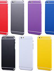 economico -lato corpo pieno + top + posteriore + tasto autoadesivo della pelle di colore puro per iPhone 6 più (colori assortiti)