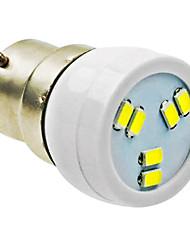 cheap -B22 2W 6LED 5730SMD 90-120LM 6000-7500K AC220-240V Spotlight White - White Silver