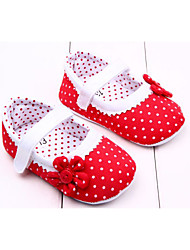 cheap -Girls' Shoes Fabric Spring & Summer First Walkers Flats Flower / Magic Tape for Red / Pink / Orange