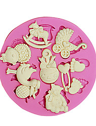 3D Bear Feet BABY Toy Silicone Fondant Molds Sugar Craft Tools Chocolate Mould For Cake Cupcake Decorating