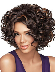cheap -African American wig Sexy dark brown Mix short Curly hair wig Free shipping