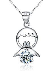 Da donna Ciondoli da bicchiere Ciondoli Argento sterling Cristallo Zirconi Zircone cubico Placcato in platino Di forma geometricaDi