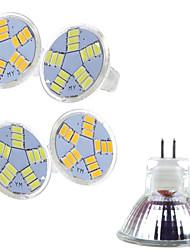 billiga -400-500 lm LED-spotlights MR11 15 LED-pärlor SMD 5730 Varmvit / Kallvit 12 V