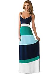 kvinders sexede rem backless slank lang maxi kjole
