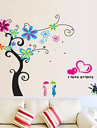 estilo calcomanías de pared pegatinas pared de la flor romántica de la pared del pvc árbol pegatinas